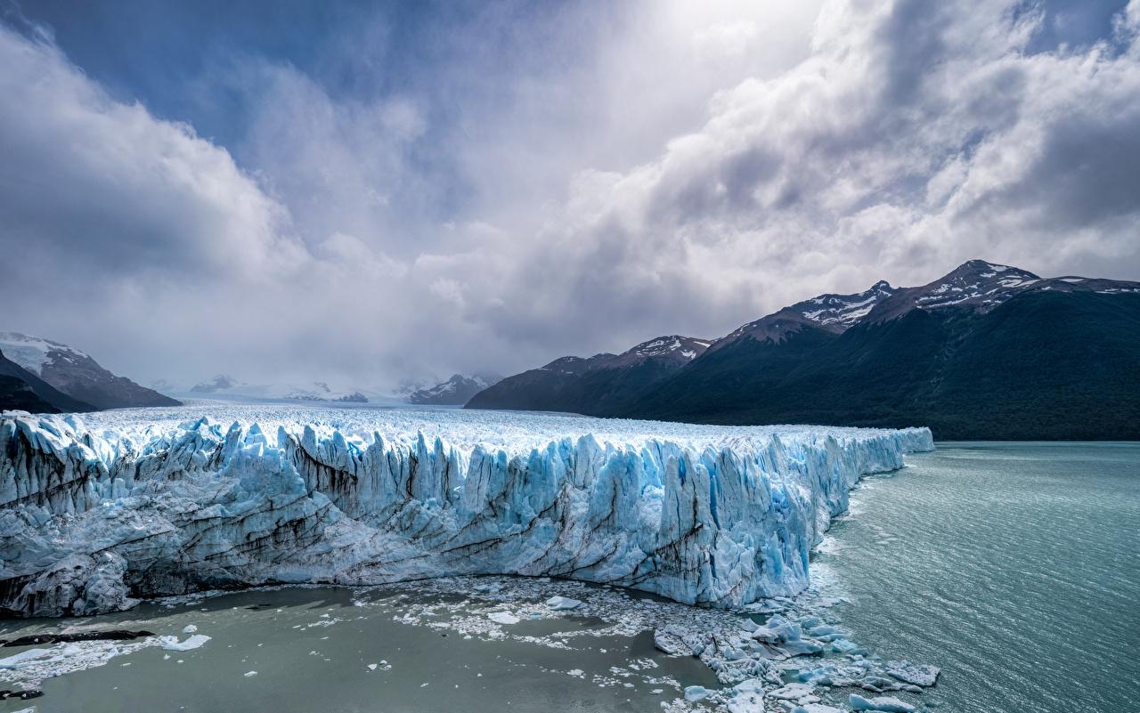Pictures Argentina Los Glaciares National Park Ice Nature mountain park Clouds Mountains Parks