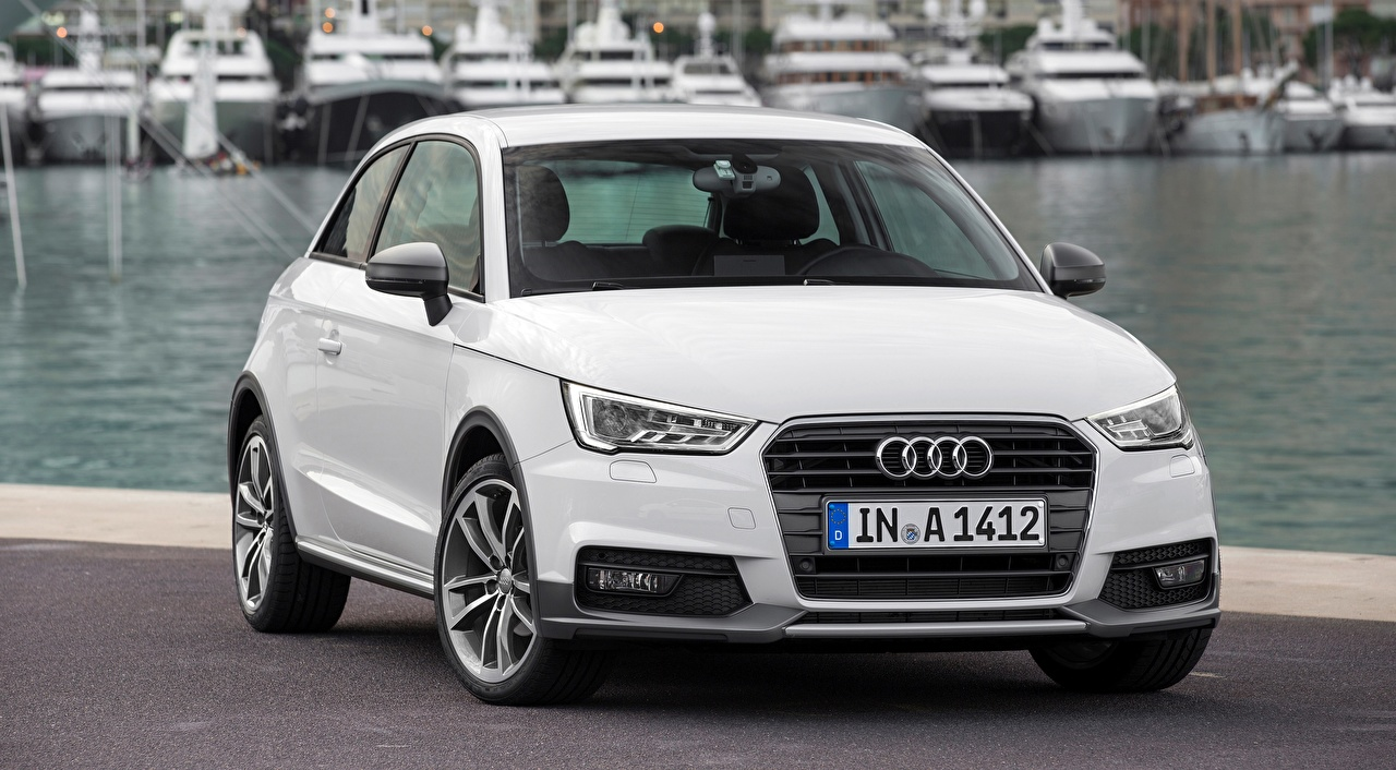 Images Audi Hatchback, A1, active TFSI ultra, 2014 White Front Metallic automobile Cars auto