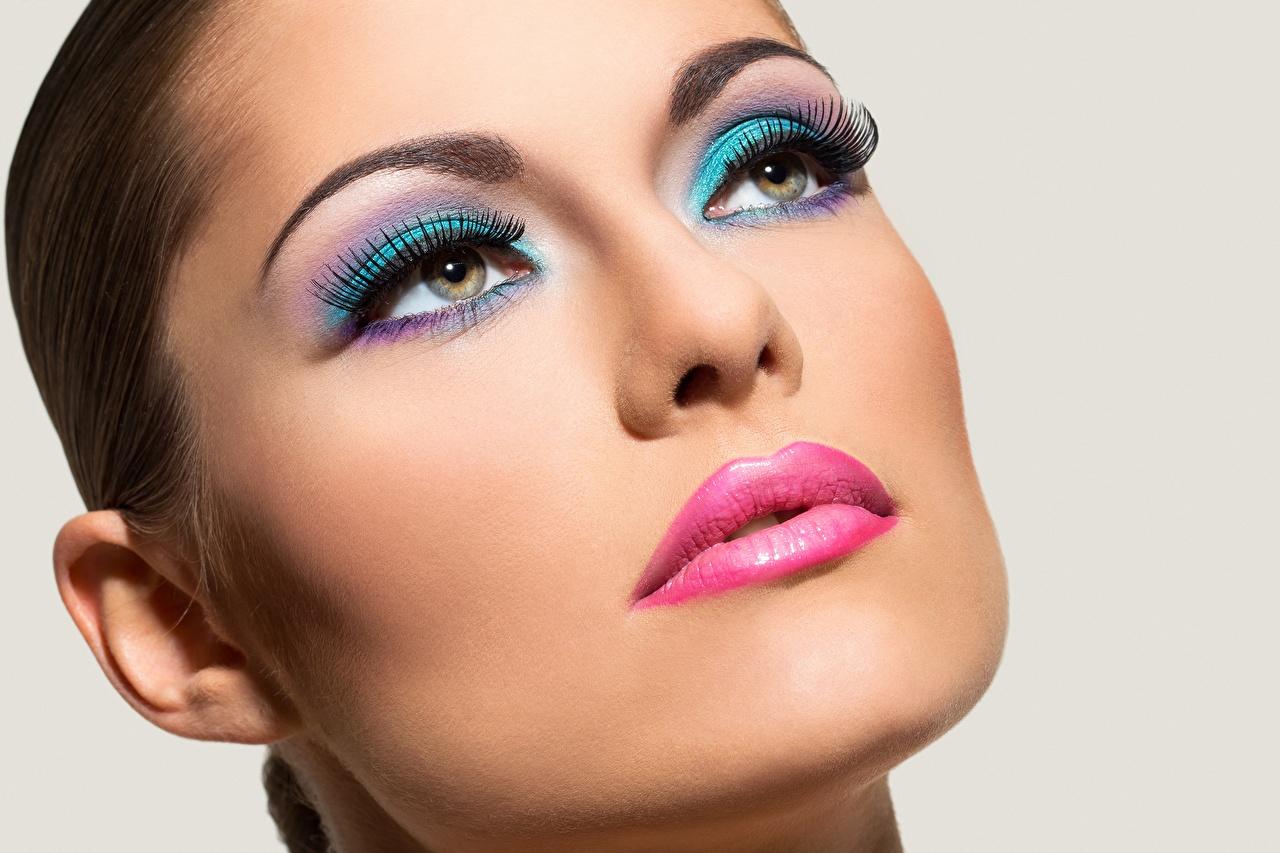 ,,模特兒,臉,化妆,凝视,年輕女性,女孩,