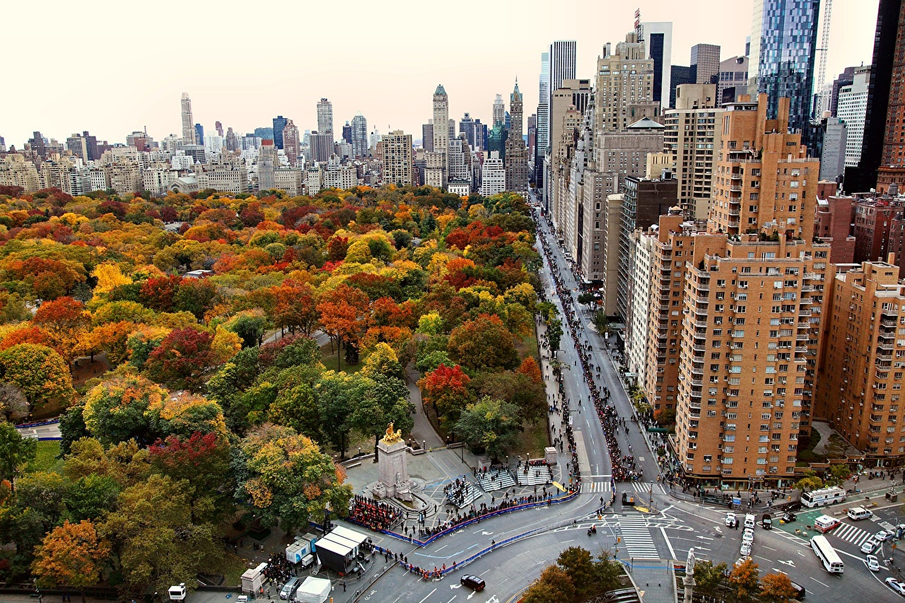 Picture Manhattan New York City USA Parks Houses Cities park Building