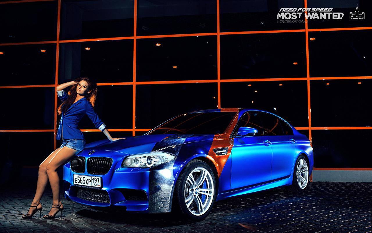 Wallpaper Bmw M5 Blue Girls Cars