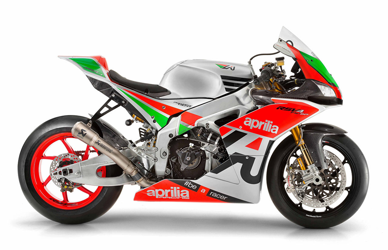 Images Tuning Aprilia 2017 RSV4 FW-GP Motorcycles White background motorcycle