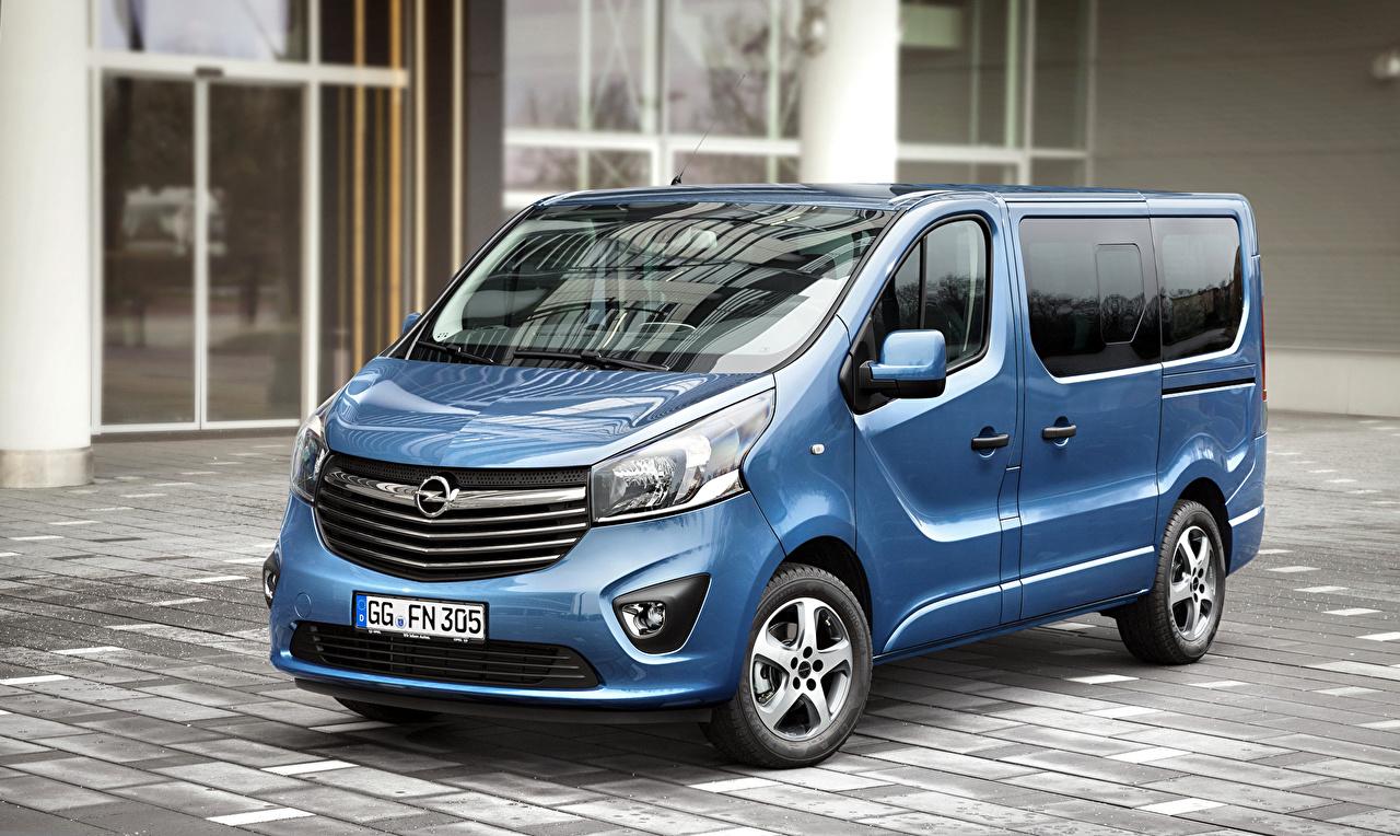 Photos Opel 2015-16 Vivaro Tourer BiTurbo Light Blue auto Metallic Cars automobile