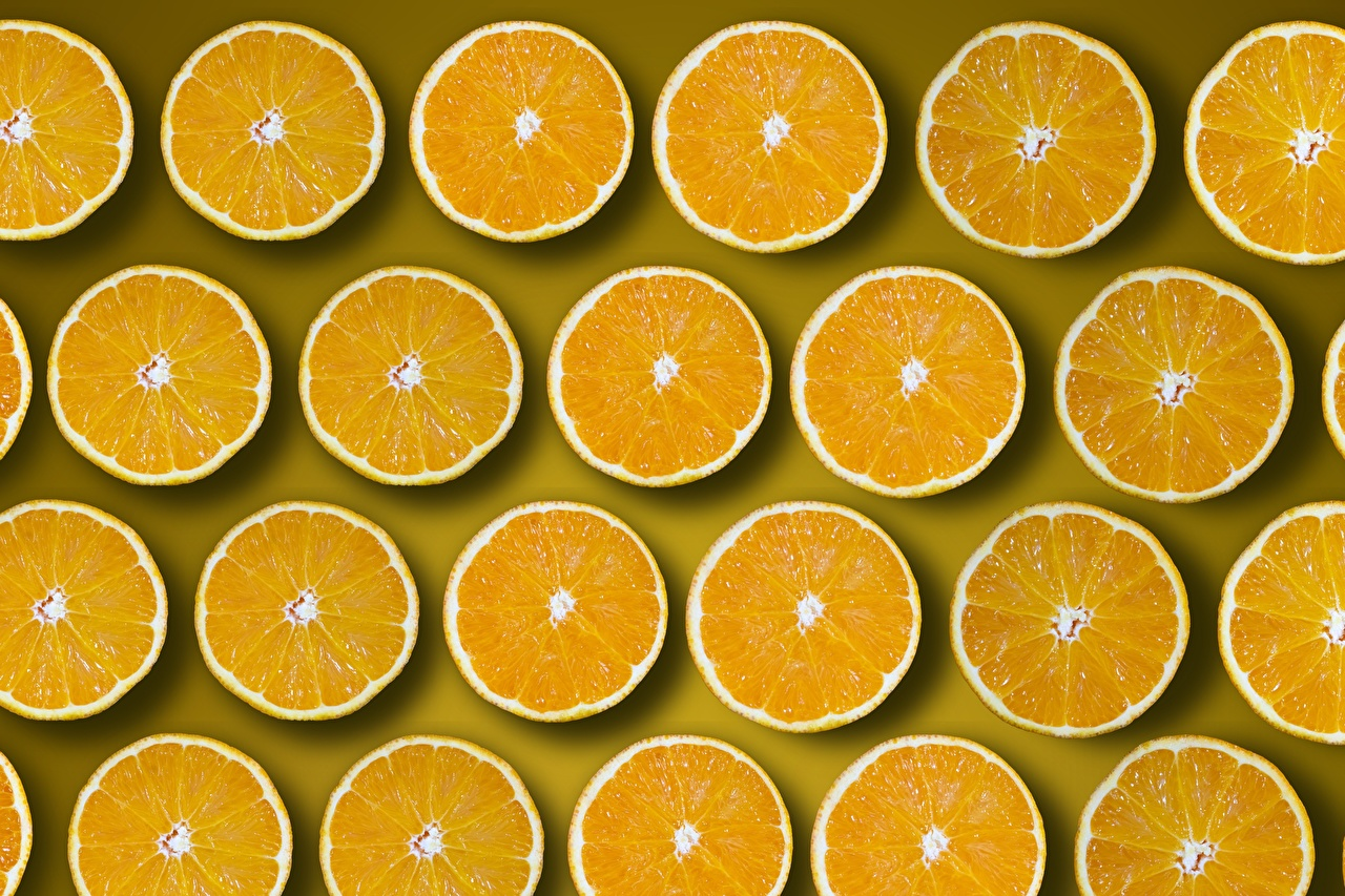 Image Texture circle Orange Orange fruit Piece Food Many Circles pieces
