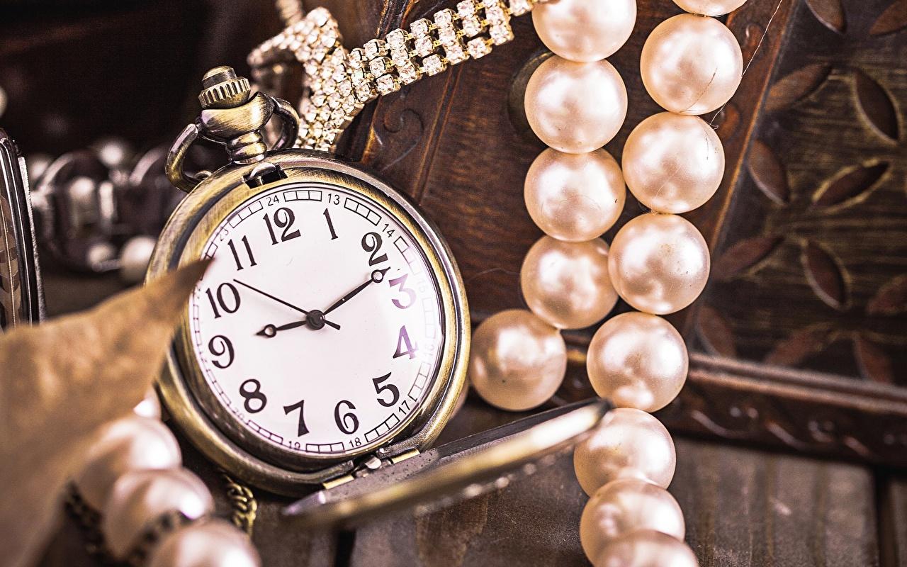 Bilder Perlen Taschenuhr Uhr