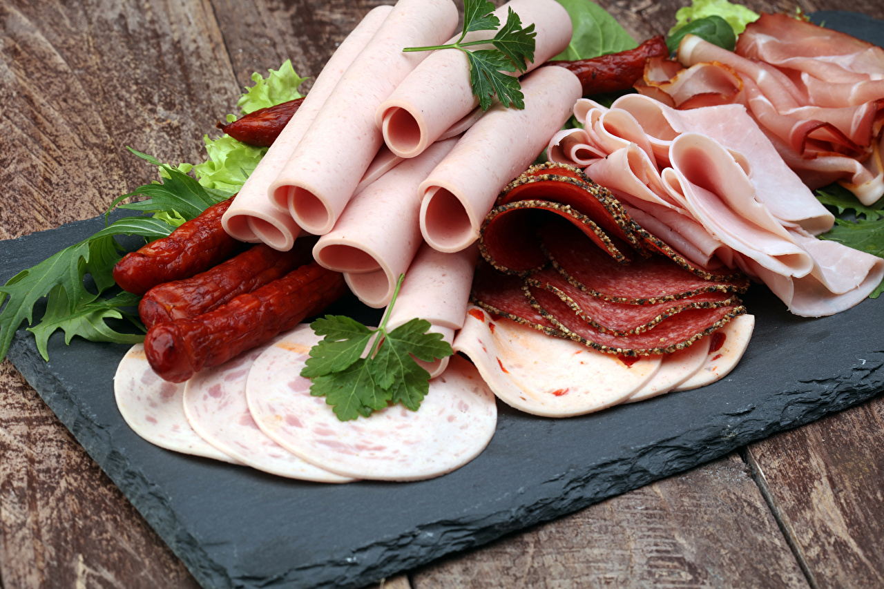 Wallpaper Sausage Ham Food Sliced food Meat products