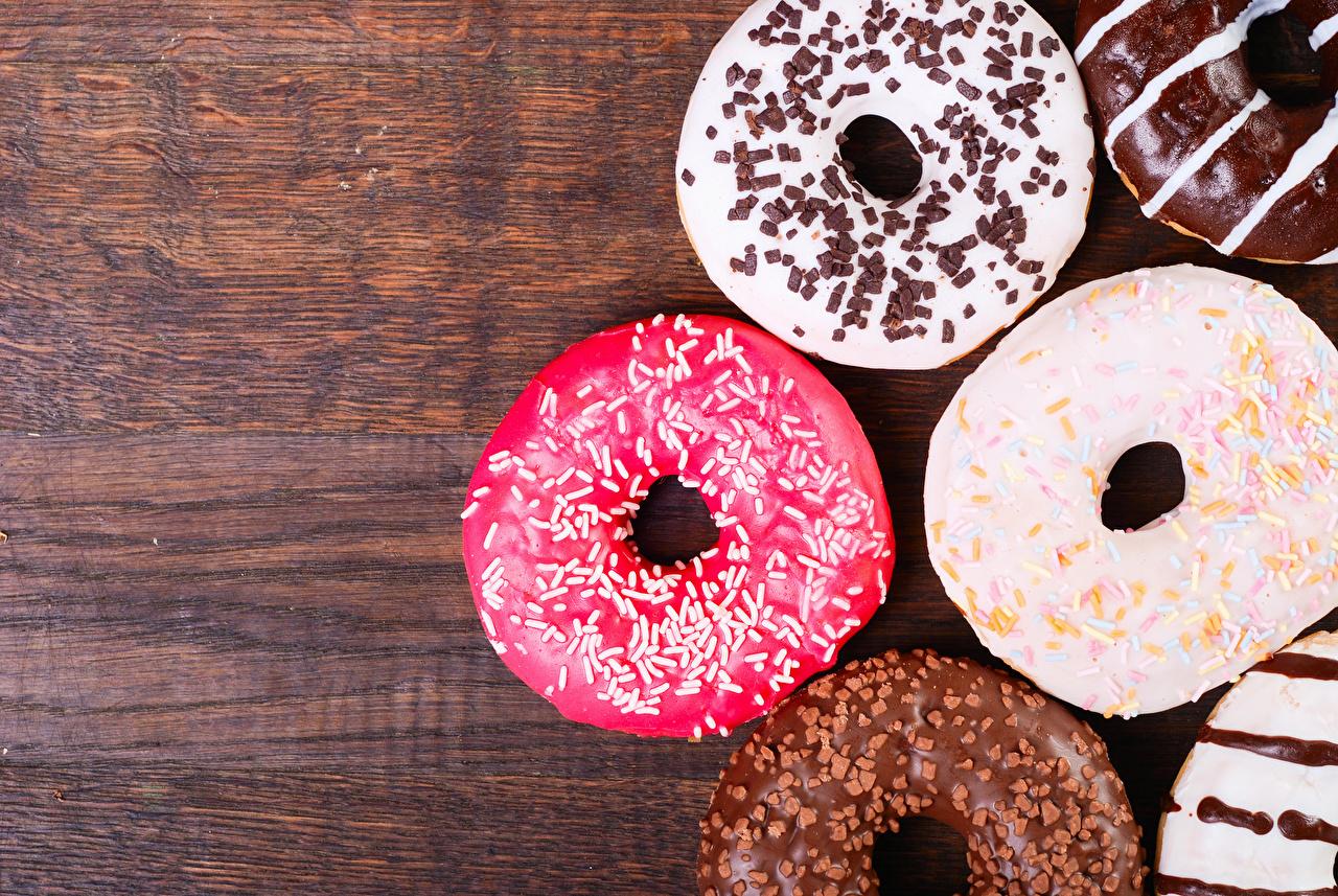 Foto Mehrfarbige Donut Lebensmittel Backware Bunte