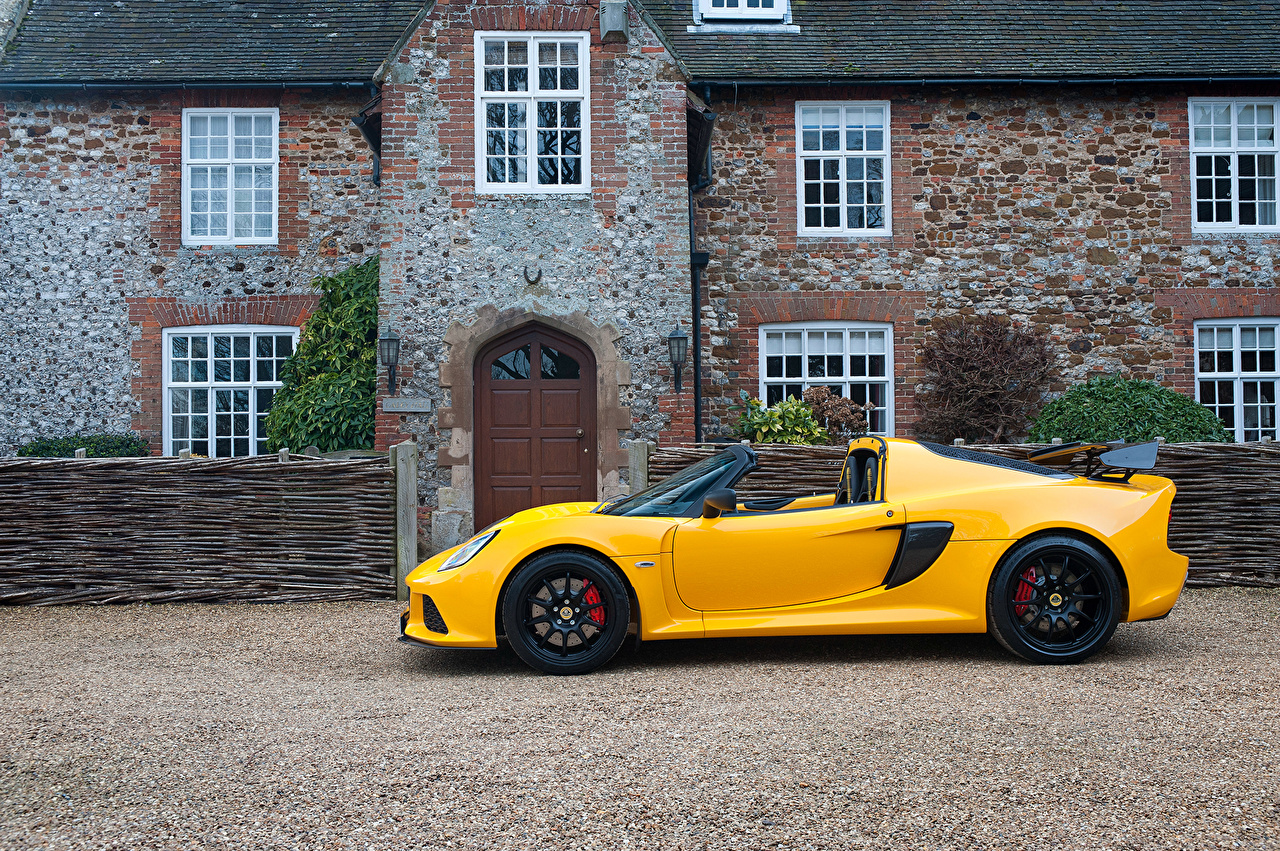 Desktop Wallpapers Lotus 2016 Exige Sport 350 Roadster Yellow Side automobile Cars auto