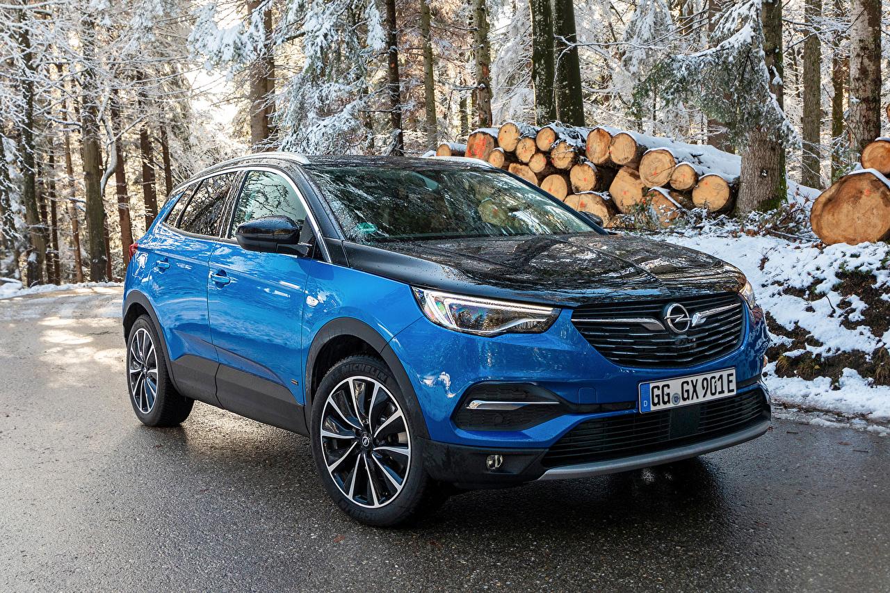 Bilder von Opel 2019-20 Grandland X Hybrid4 Hybrid Autos Hellblau automobil Metallisch auto Autos