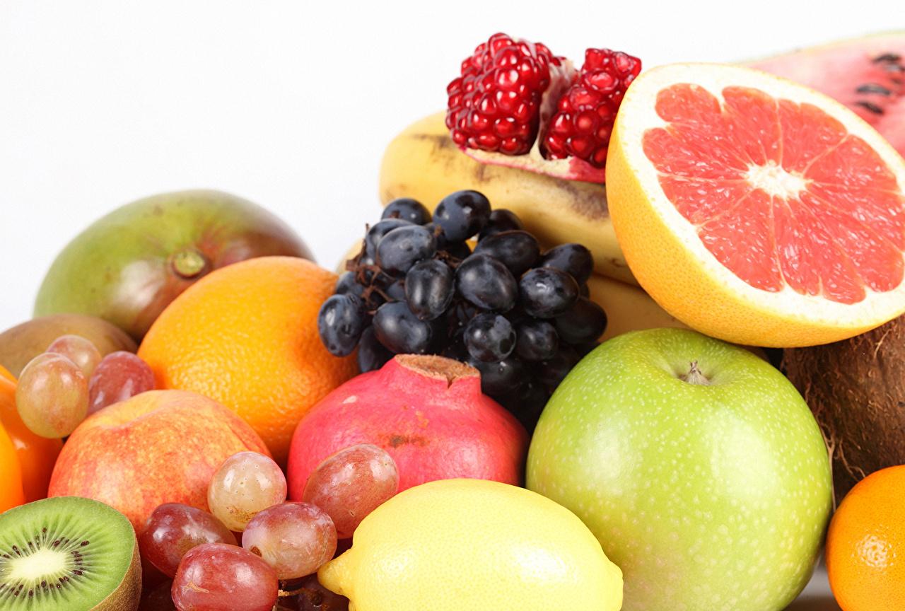 Image Orange fruit Apples Grapes Pomegranate Food Fruit