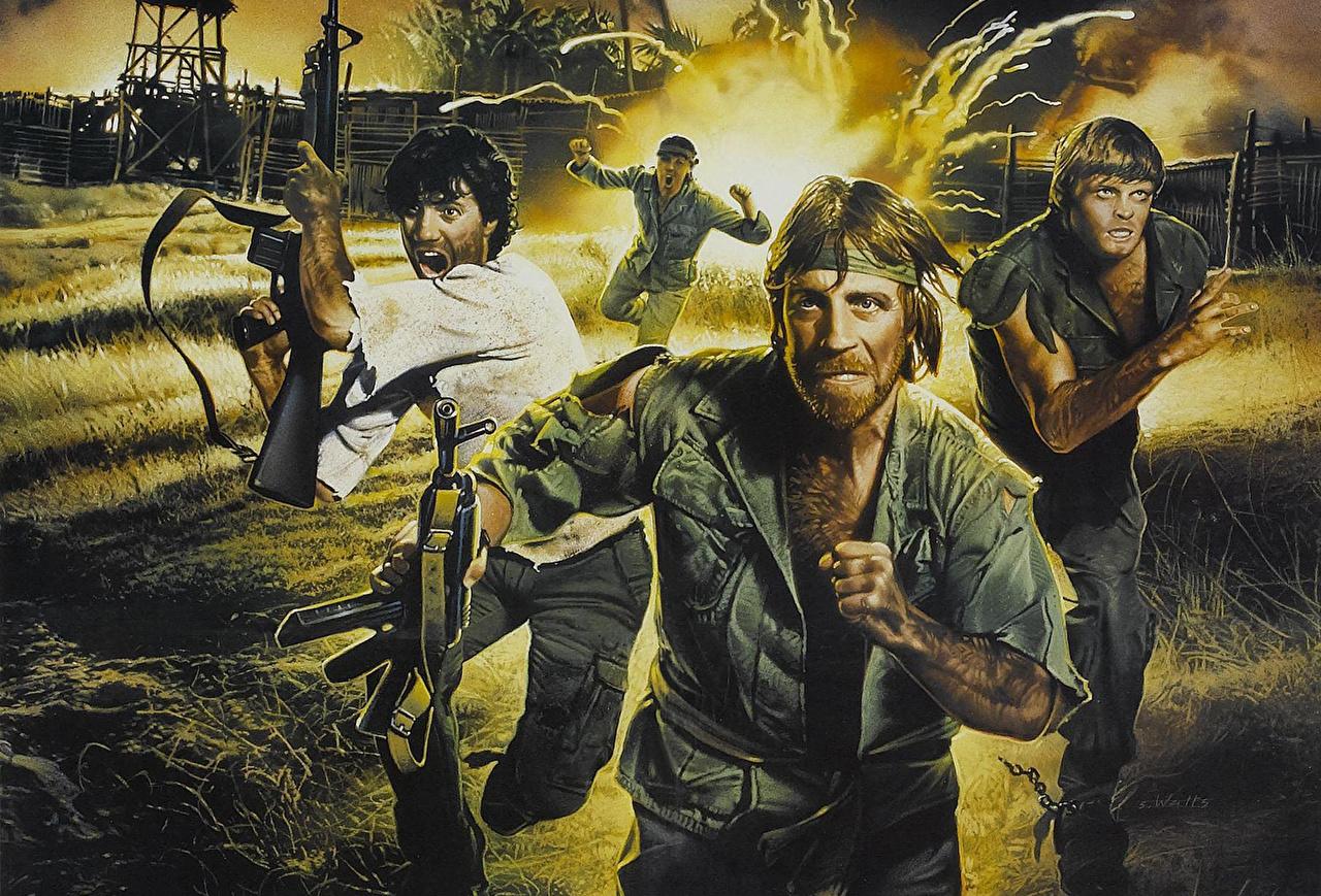 ,查克·諾里斯,男性,绘制壁纸,Missing in Action 2 The Beginning Colonel James Braddock,,電影,名人,