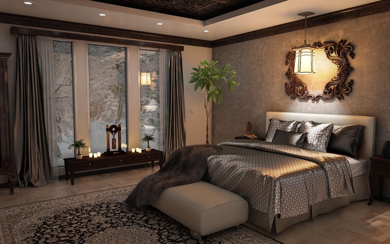 Desktop Hintergrundbilder Schlafkammer Innenarchitektur Bett Fenster