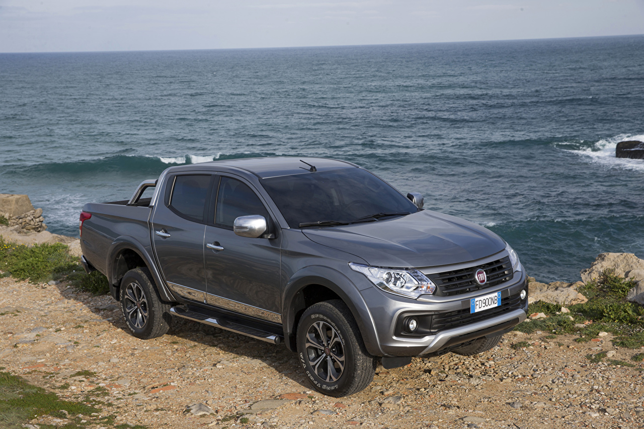 Images Fiat 2016 Fullback Double Cab Grey automobile gray Cars auto