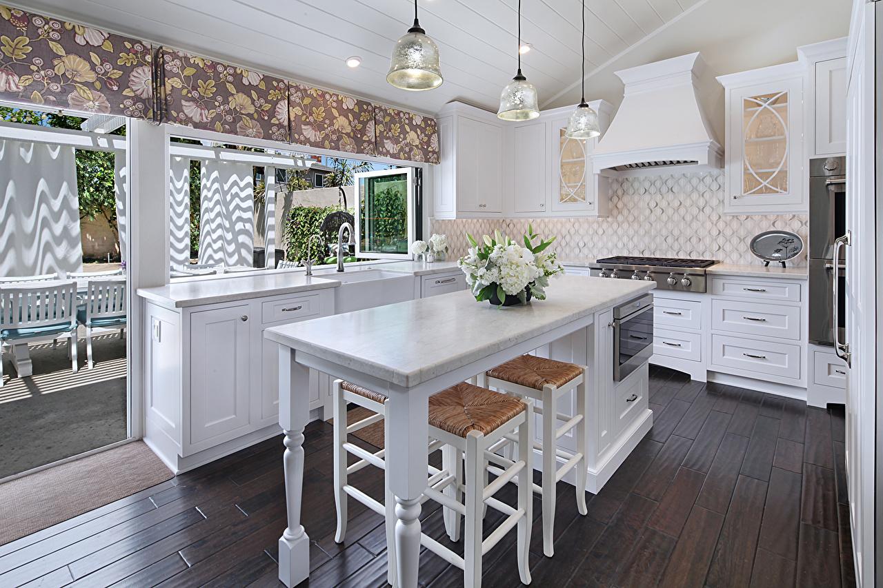 Foto Küche Innenarchitektur Lampe Tisch Design