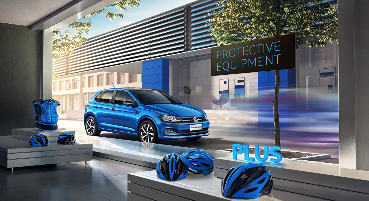 Photos Volkswagen 2019-20 Polo Plus Light Blue auto Cars automobile