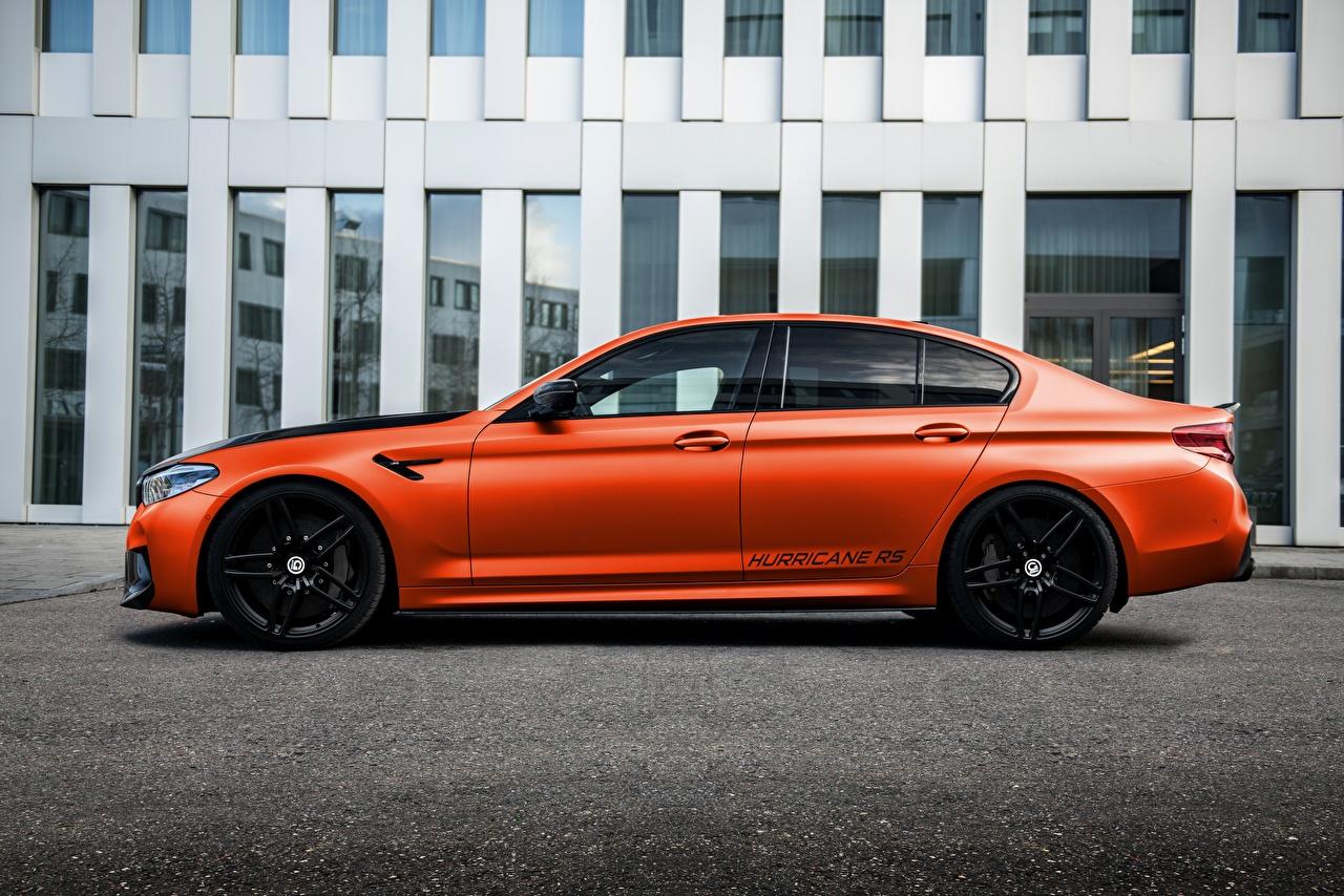 Bilder BMW Fahrzeugtuning M5, G-Power, F90, G5M Hurricane RS Autos Seitlich Metallisch Tuning auto automobil