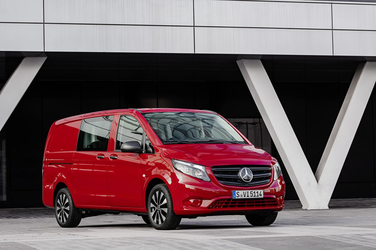 Photos Mercedes-Benz 2020 Vito Mixto Worldwide Minivan Red auto Metallic Cars automobile
