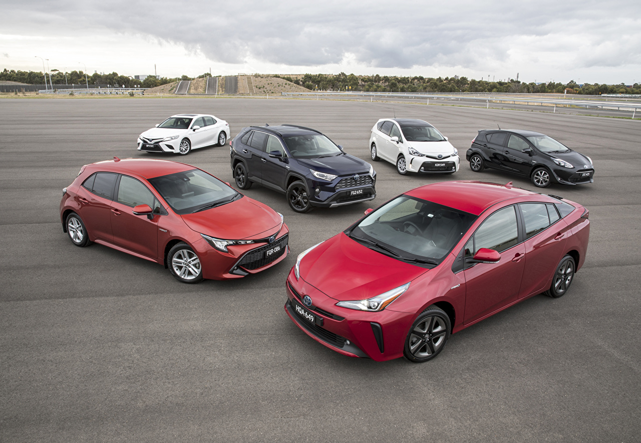 Picture Toyota automobile Many Cars auto