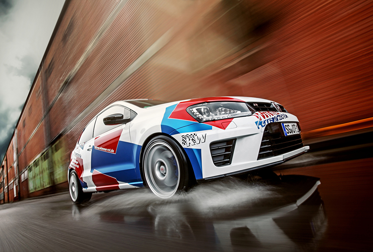 Pictures Volkswagen Wimmer RS Polo R WRC moving Cars Motion riding driving at speed auto automobile
