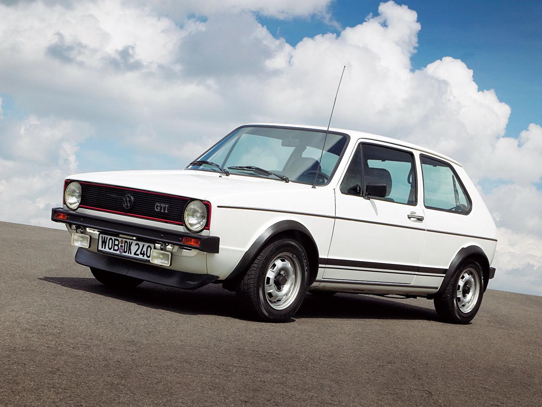 Image Volkswagen 1976 Golf I GTI White Cars auto automobile