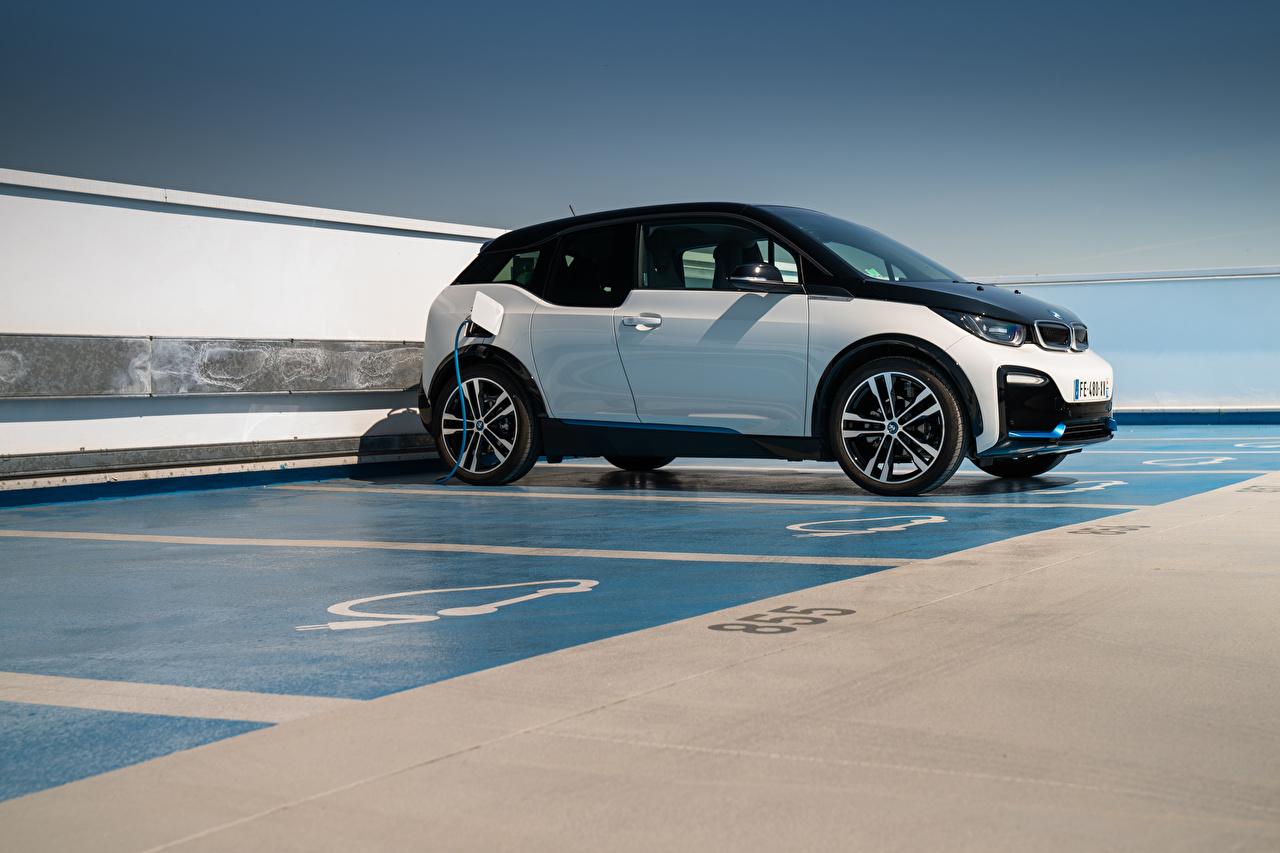 Desktop Hintergrundbilder BMW i3s, Edition WindMill, (I01), 2020 geparktes auto Seitlich parken Parkplatz Autos automobil