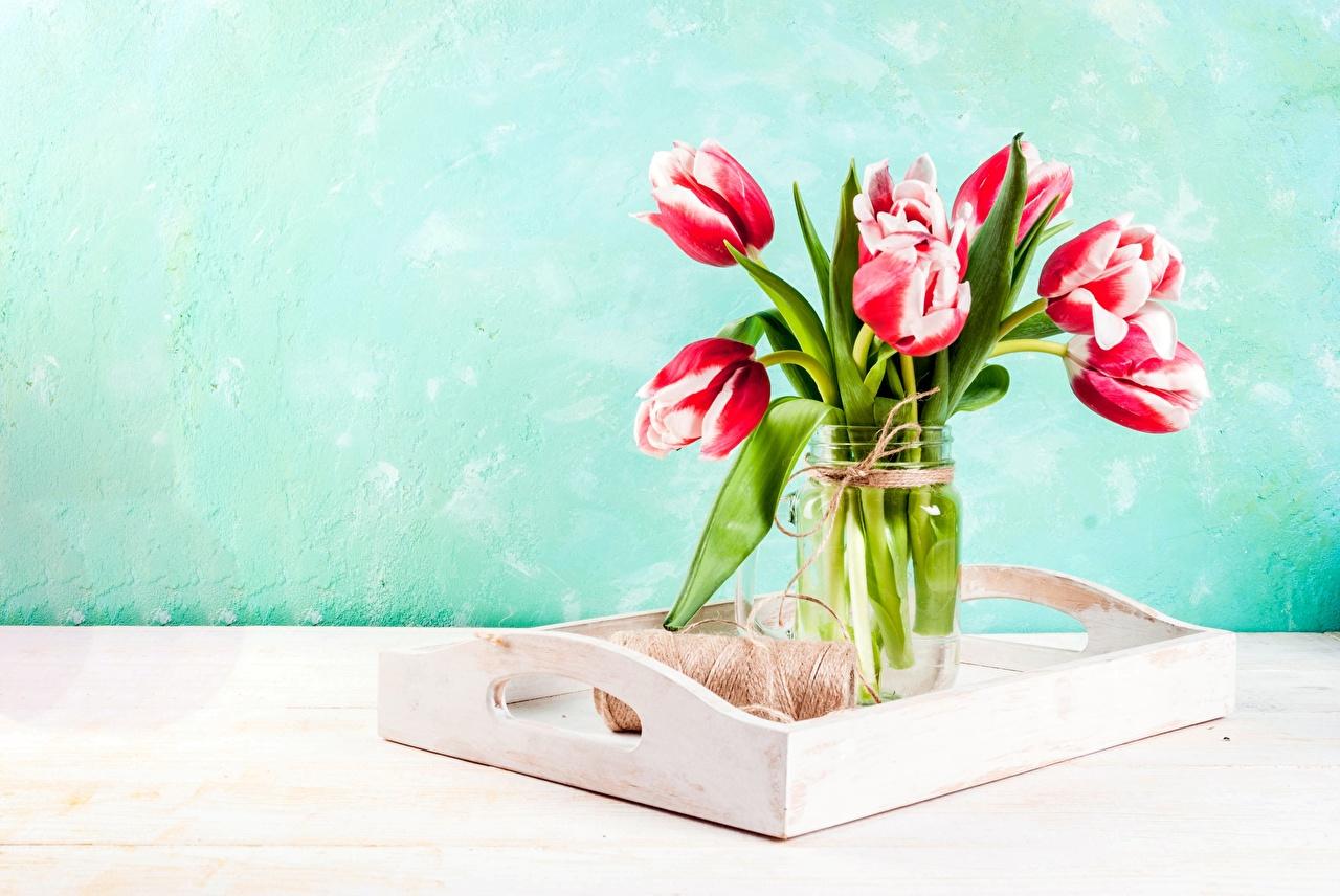 Wallpaper Bouquets Tulips Flowers Vase