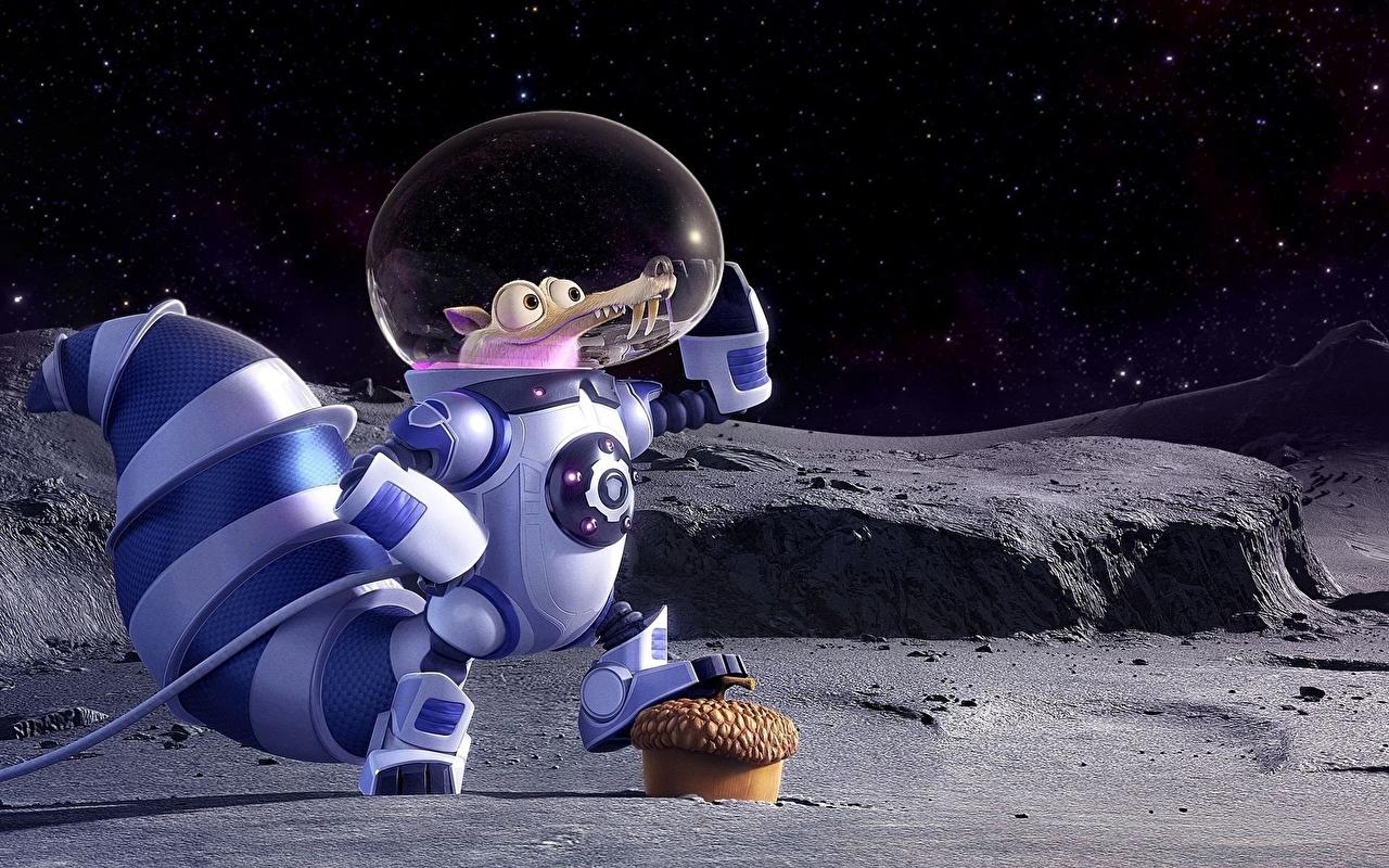 Fotos Ice Age Ice Age – Kollision voraus! Eichhörnchen Astronauten 2016 Zeichentrickfilm Hörnchen Animationsfilm