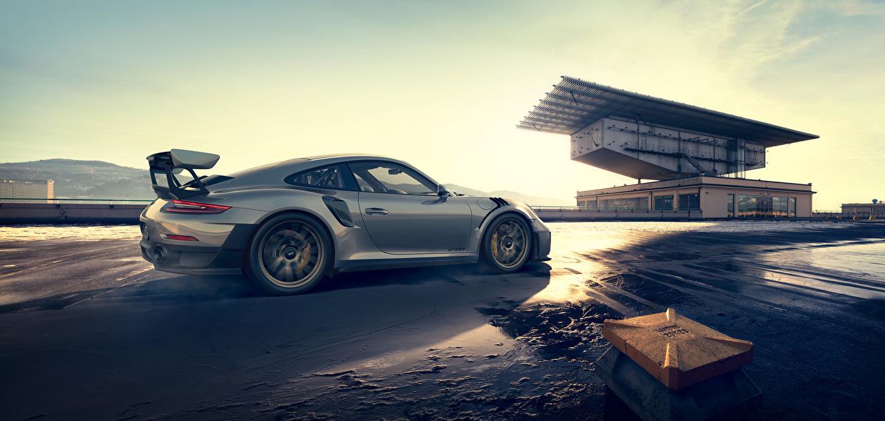 Desktop Hintergrundbilder Porsche 911 Silber Farbe Autos Seitlich Metallisch auto automobil