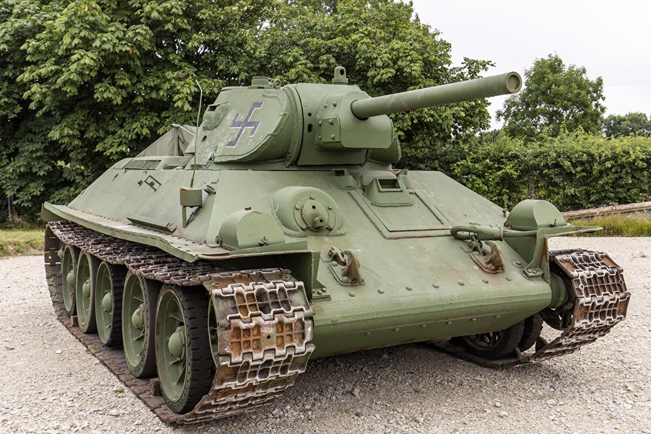 Bilder von T-34 Panzer russischer Captured Heer Russische russisches