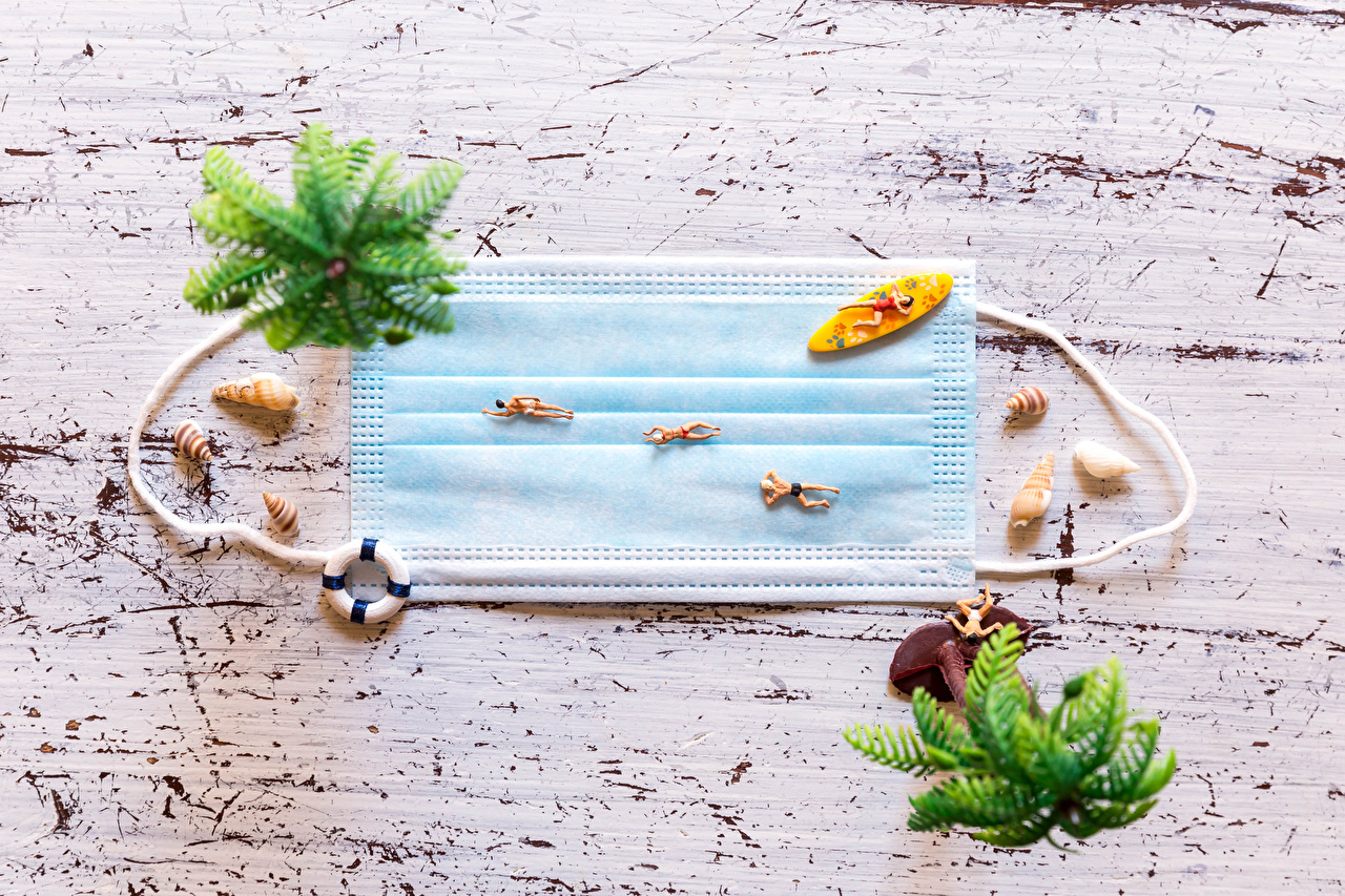 Photo Coronavirus Beach Shells Creative Masks beaches