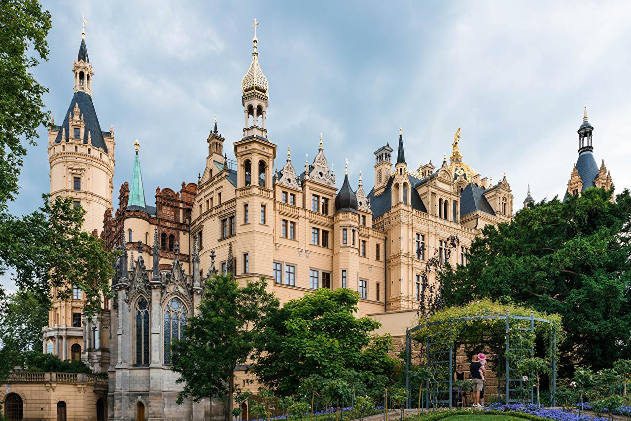 Bilder Deutschland Schwerin castle Burg Städte Design