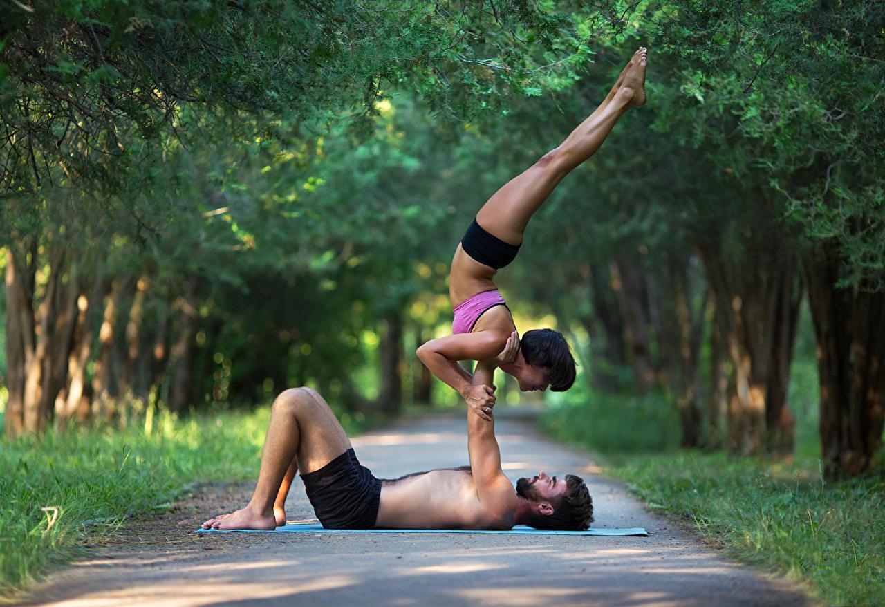 Hintergrundbilder Mann Trainieren 2 Sport Mädchens Gymnastik Bein Körperliche Aktivität Zwei