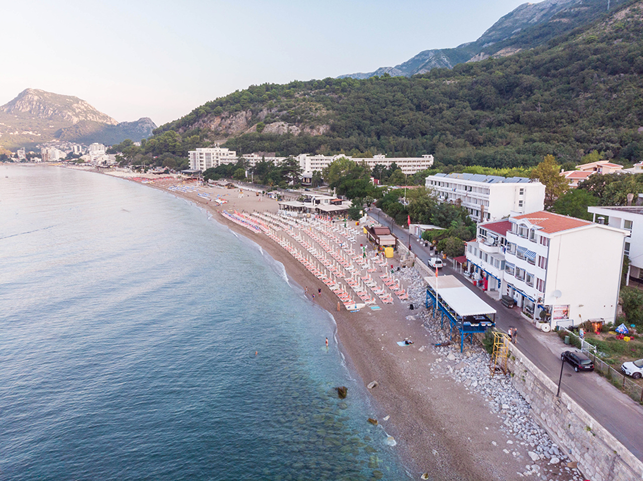 Pictures Montenegro Sutomore Beach beaches Coast Houses Cities Building