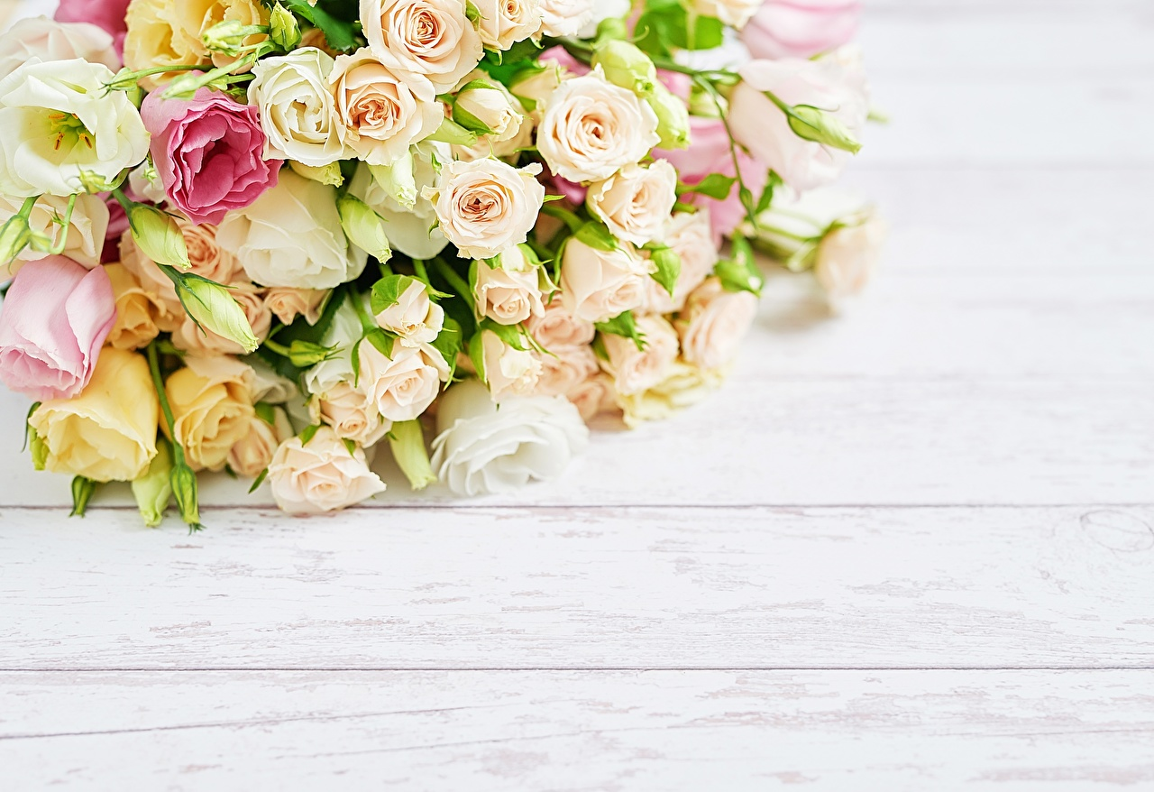 Bakgrundsbilder Buketter ros Blommor Hälsningskort mall Träplankor blomsterbukett Rosor blomma