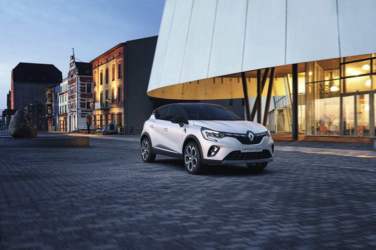 Desktop Wallpapers Renault Crossover 2020 Captur E-TECH Worldwide Silver color automobile CUV Cars auto
