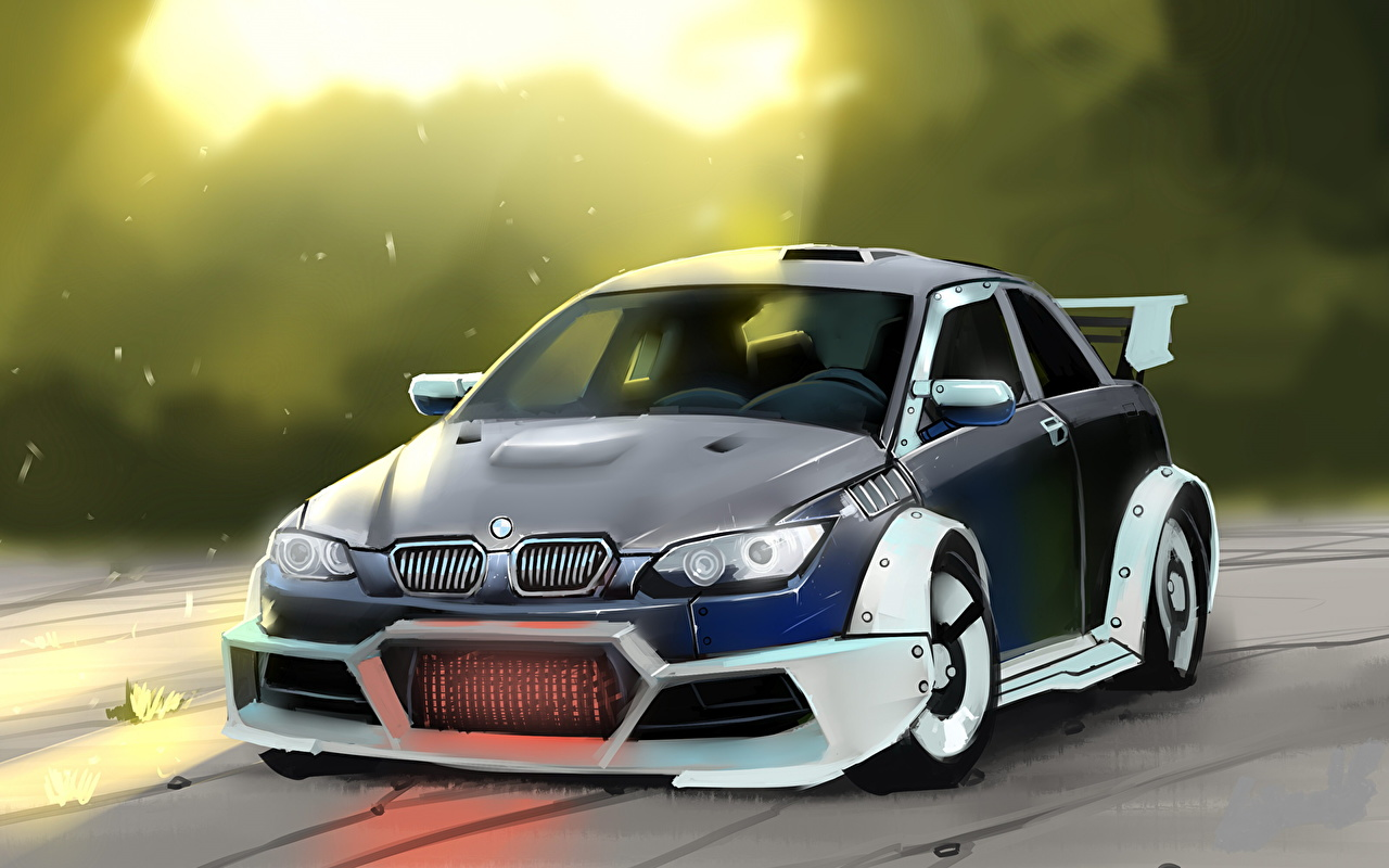 Pictures BMW M3 automobile Painting Art Cars auto