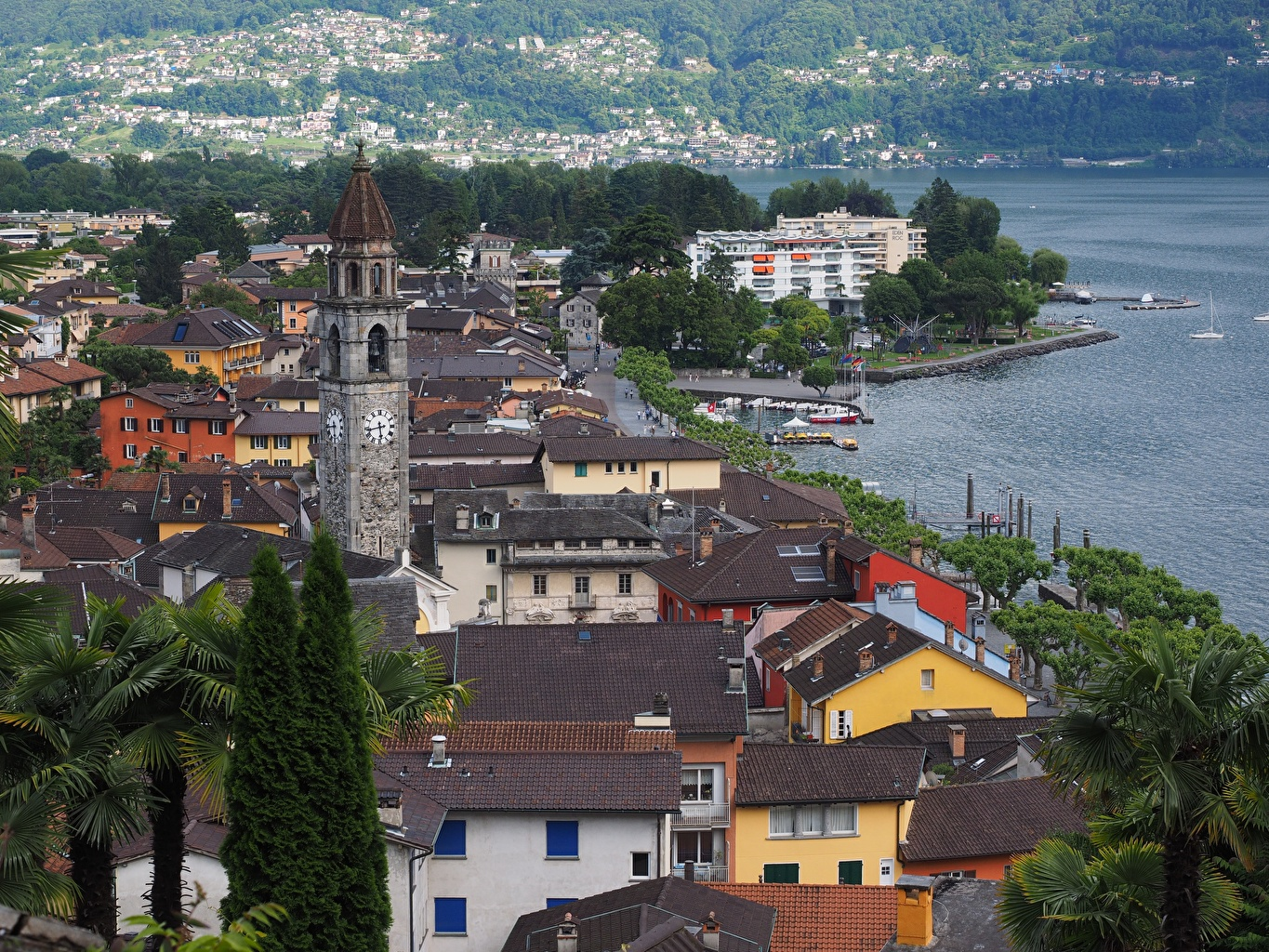 Images Switzerland Lucerne Roof Coast Houses Cities Building