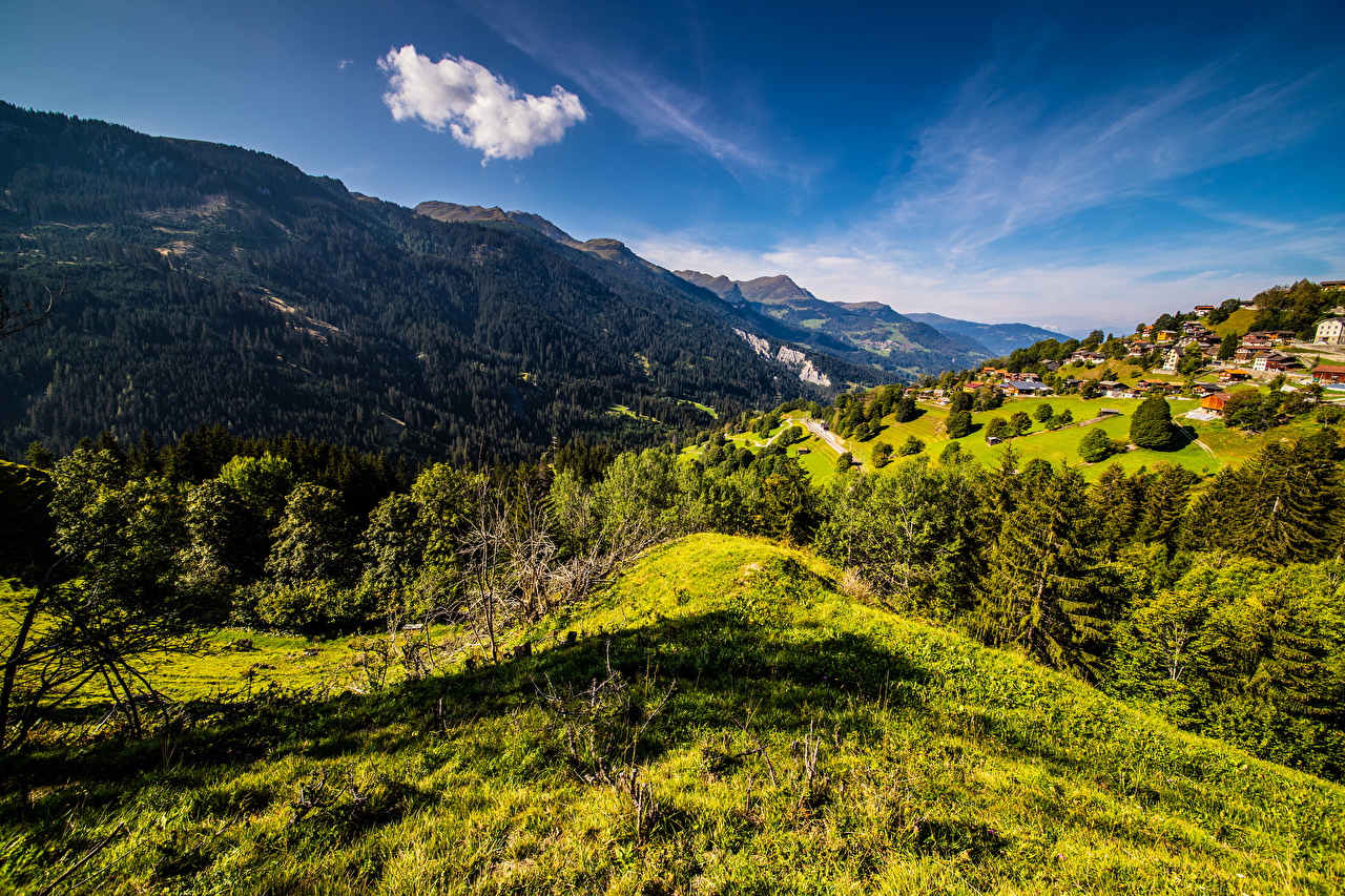 Picture Alps Switzerland Nature Mountains Sky landscape photography mountain Scenery