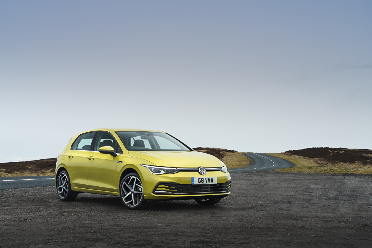 Image Volkswagen 2020 Golf Style Yellow Cars auto automobile