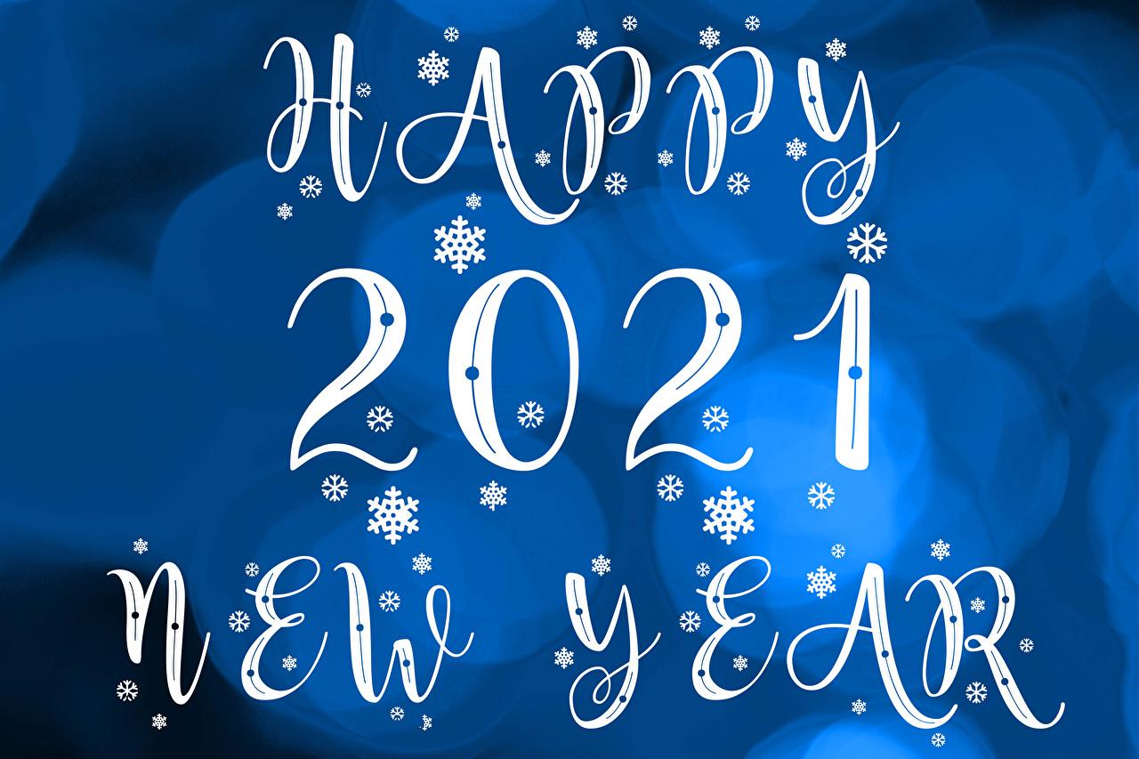 Bilder von 2021 Neujahr englisches Schneeflocken Wort Englisch englische englischer text