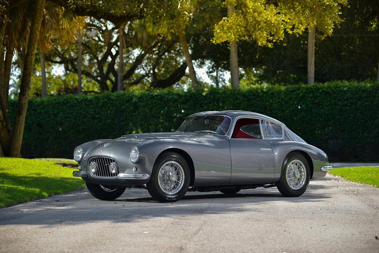 Picture Fiat 1953-55 8V Elaborata Berlinetta Zagato gray vintage Cars Metallic Grey Retro antique auto automobile