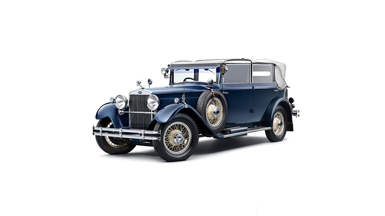 Fotos von Skoda 860, 1929-1933 Cabriolet Retro automobil Weißer hintergrund Cabrio antik auto Autos
