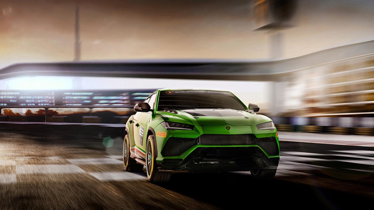 Images Lamborghini Urus 2019 ST-X Green auto Cars automobile