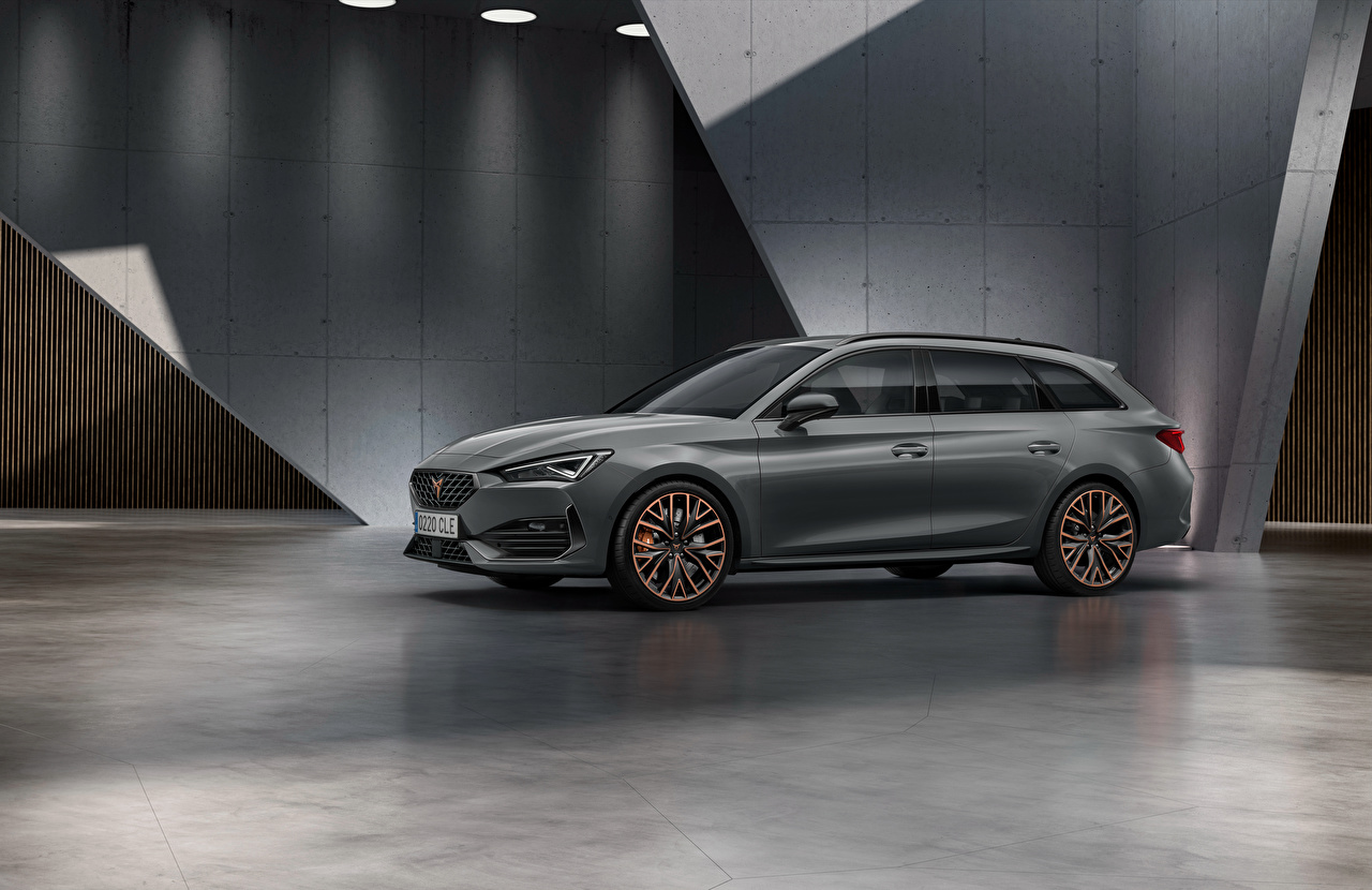 Images Seat Station wagon Cupra Leon, Sportstourer, Worldwide, 2020 gray Side automobile Estate car Grey auto Cars