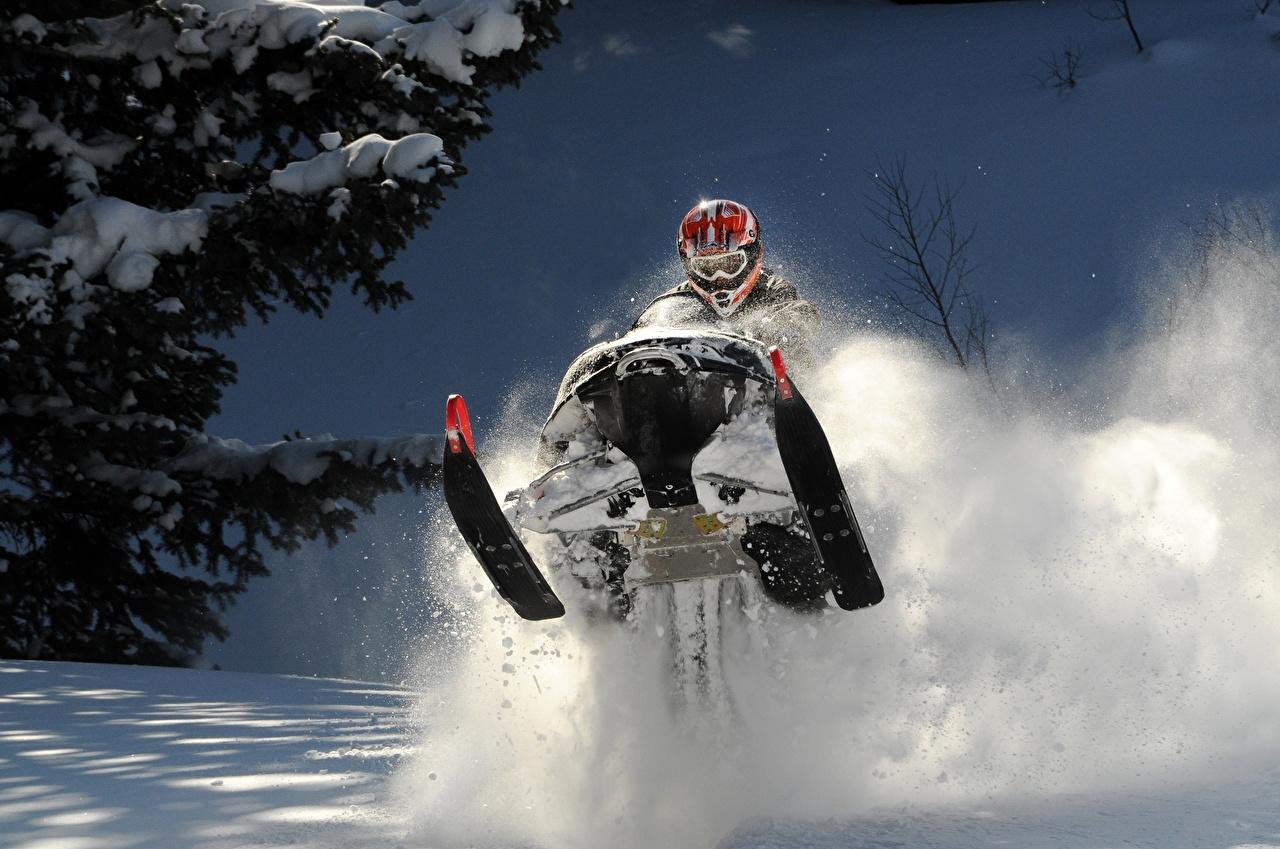 Fotos von Helm Schneemobil Sport Winter Sprung Schnee Brille