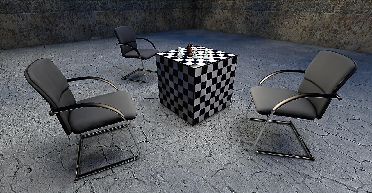 壁紙 チェス アームチェア 正六面体 3dグラフィックス