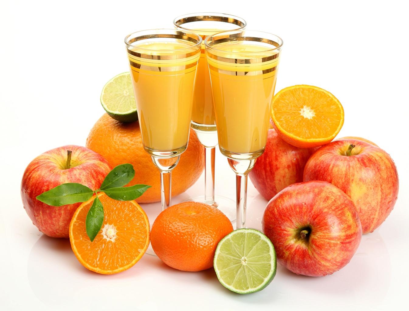 Image Lime Juice Orange fruit Apples Food Fruit Stemware
