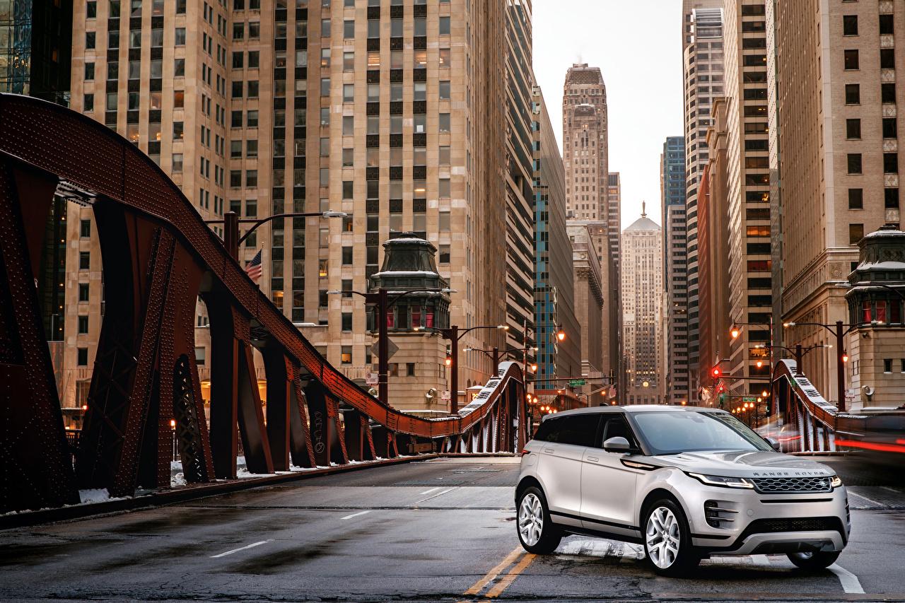 Bilder Land Rover Crossover 2019 Evoque P300 S R-Dynamic Worldwide Silber Farbe Autos Softroader auto automobil