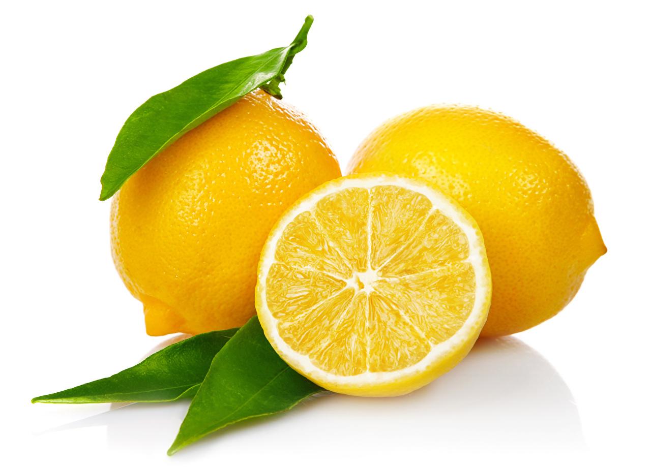 Limão De perto Fundo branco comida, limões Alimentos