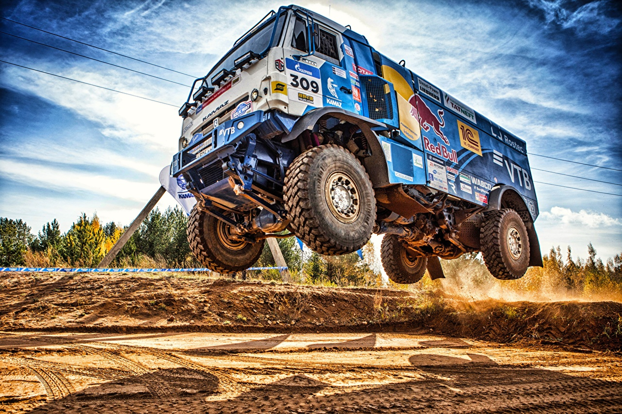 Wallpaper KAMAZ Trucks 309 SilkWay Dakar HDR Cars lorry HDRI auto automobile